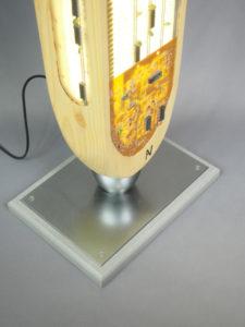 sculpture lumineuse artisanale