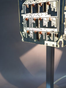 lampe argentée design