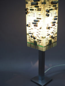 Lampe upcycling d'ambiancen