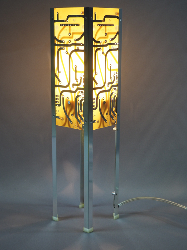 lampe jaune de créateur
