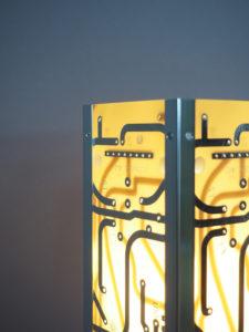 lampe originale en circuits imprimés